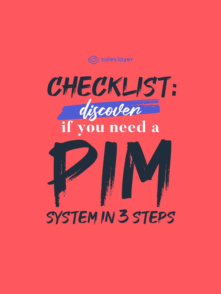 Checklist PIM system in 3 steps